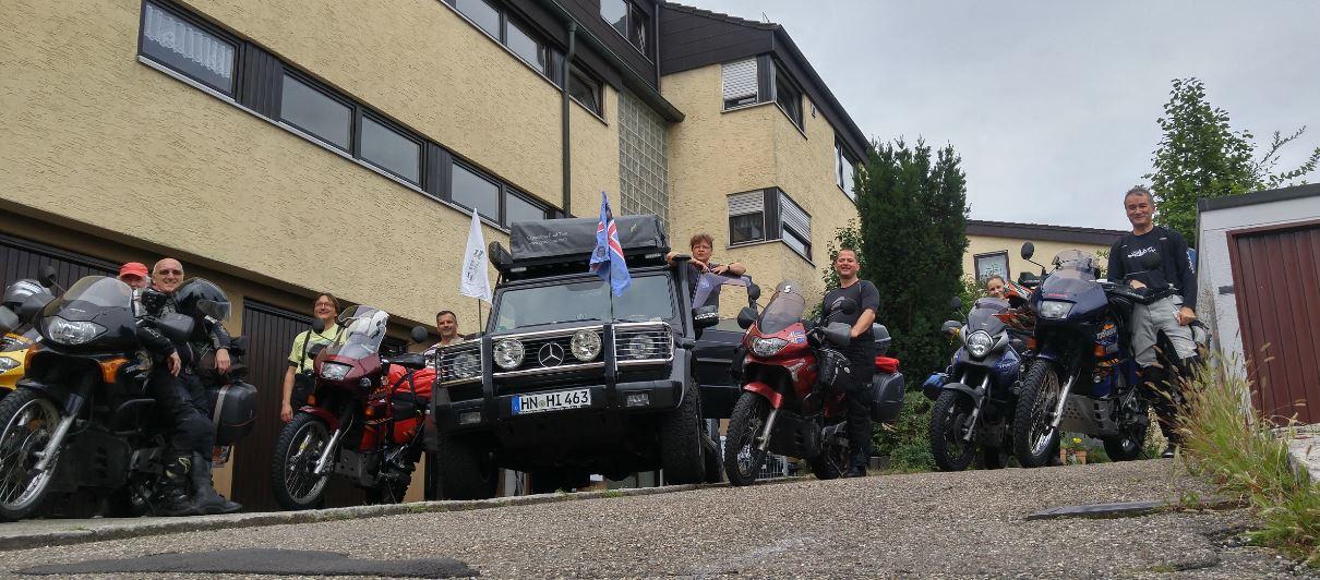 Aufstellung zum Start in Weinheim bei Heilbronn
