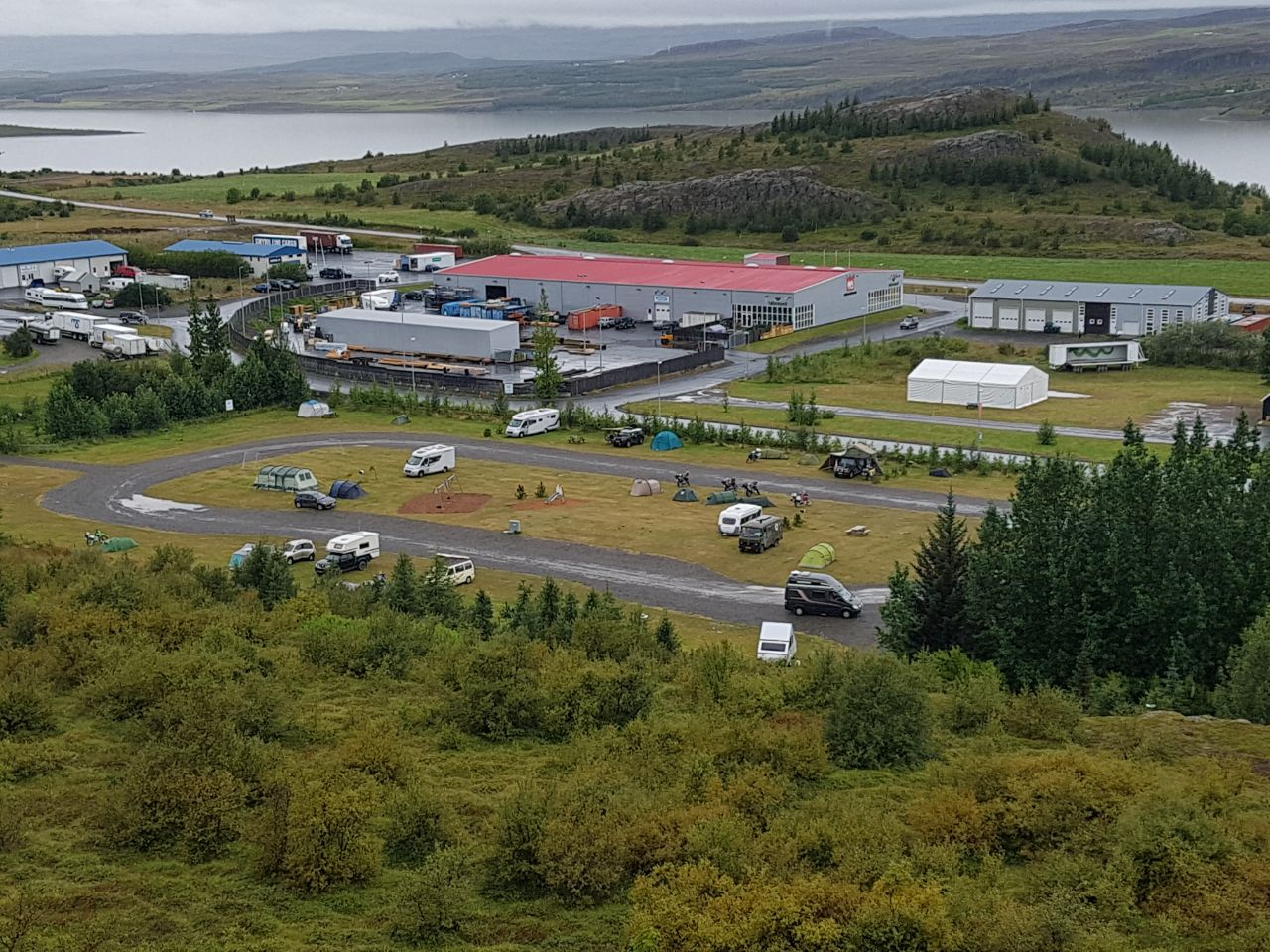 Blick auf unser letztes Lager in Island